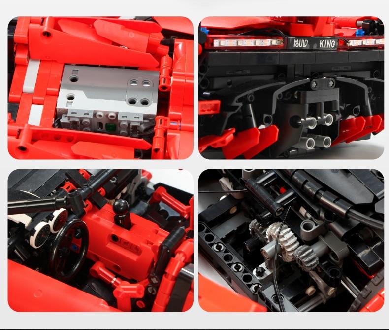 MOULD KING Compatible 13079  MOC 20091 Technic Series Veneno Lambo Building Block (2535PCS) 10
