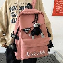 JOYPESSIE Fashion Canvas Lovers Backpack Women Laptop Mochila Kawaii Girl School for Teenager Bookbag Female Travel Shoulder Bag