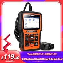 FOXWELL Sistema de escáner para el coche, herramienta de diagnóstico para el vehículo, con lector de código y aplicaciones bidireccionales, OBD2, SAS SRS DPF, NT510