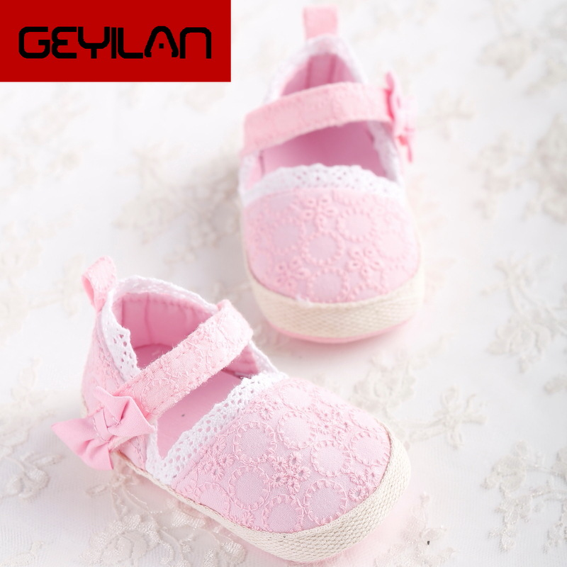 Baby Girls Cotton Fabric Sandal Summer Lace Bow Princess Shoes Toddler Girls Breathable Comfortable Casual Sandals 5 Colors