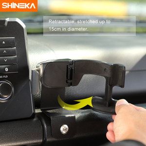 Image 2 - SHINEKA soporte Universal para automóvil Suzuki Jimny JB74 2019 + soporte de teléfono para coche, portavasos, organizador para Jimny 2019 +