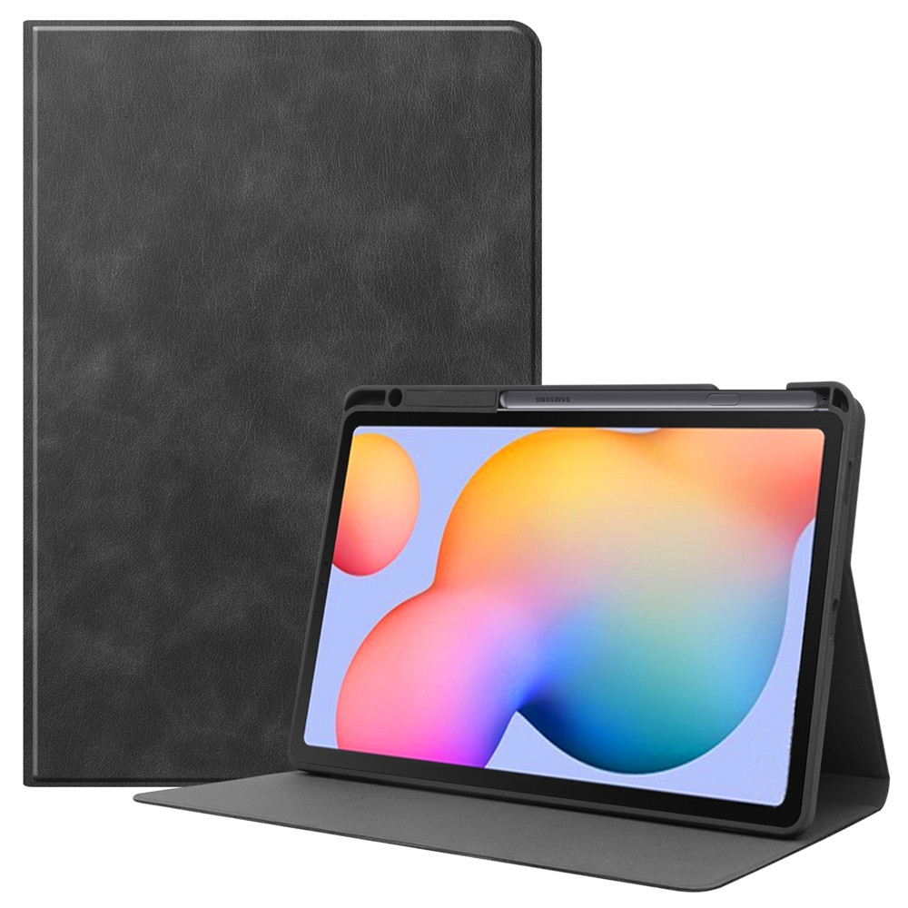 2020 Case For Samsung Galaxy Tab S6 Lite 10.4 Pencil Holder For Samsung SM-P610 P615 PU Leather Stand Cover Tablet Shell+Film