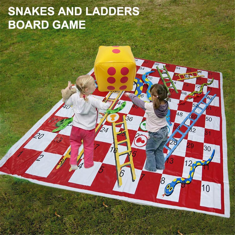 Presale נחשים וסולמות לוח משחק סט עבה Pvc משחק מחצלת אינטראקציה בין ההורה לילד צעצועי משפחת מסיבת חיצוני פיקניק משחק מחצלת
