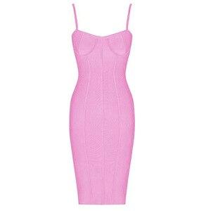 Image 5 - Vestido de verano ceñido con tirantes, rosa y azul