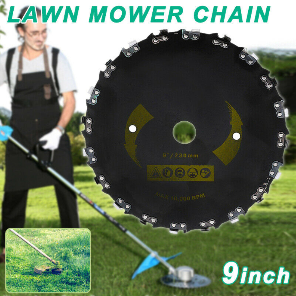 228mm/9inch Grass Trimmer Head With 20-teeth Chain Saw Rotary Tray Steel Brushcutter Blades Lame Debroussailleuse For Lawnmover