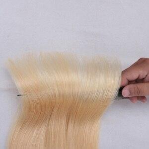 Image 5 - ORSUNCER extensiones de cabello humano brasileño liso, oferta de extensiones de cabello rubio 613, no Remy, relación media, 613