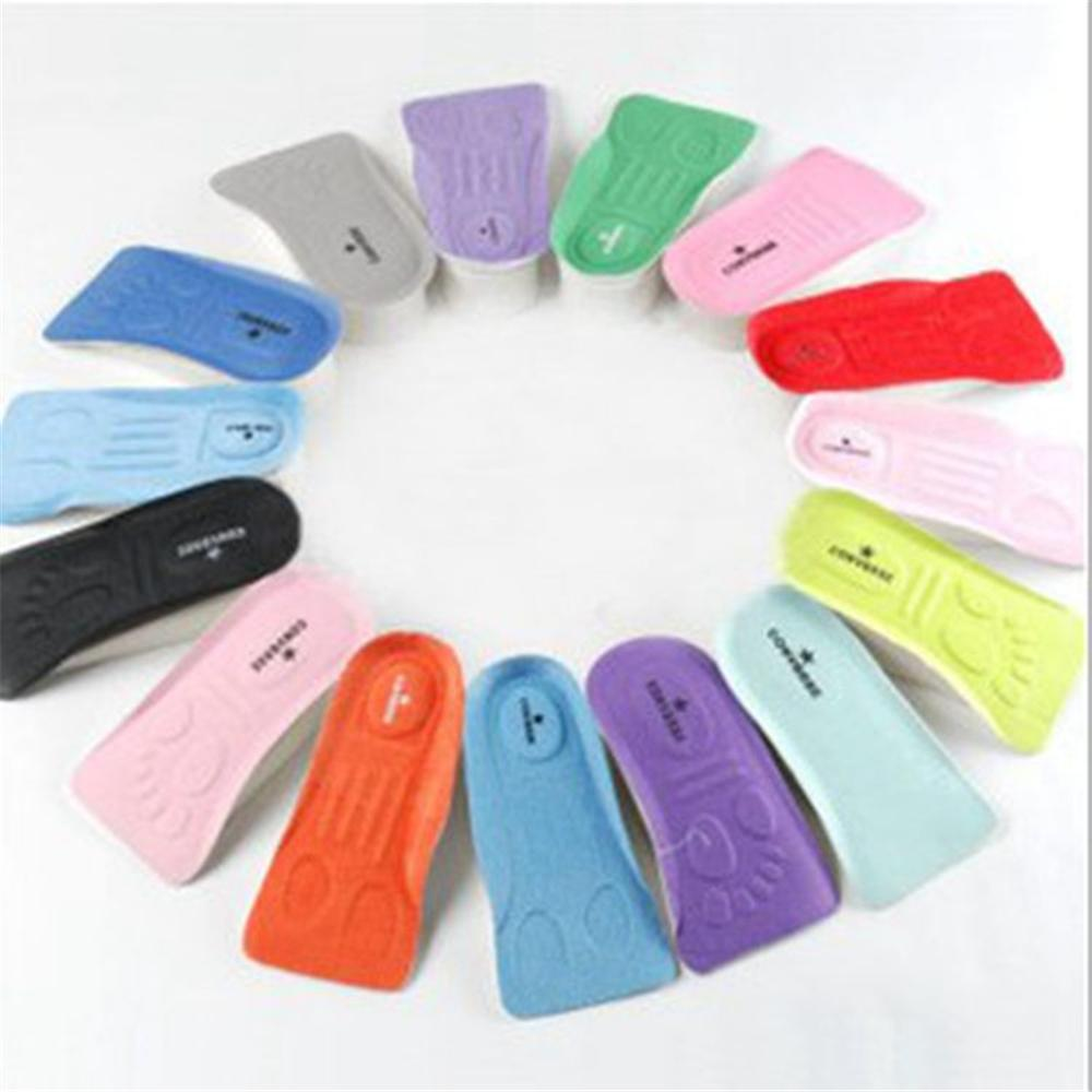 Invisible Heightening Insole A Pair Of Unisex Insole Heel Pad Eva Soft And Comfortable Massage Pad Correction Insole
