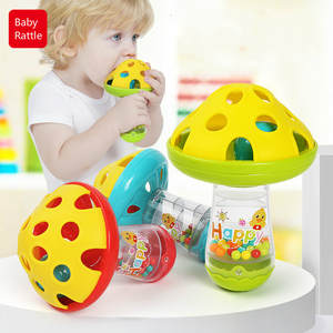 Toys Mushroom Shaking-Bell Hand-Jingle Comforting Baby Kids Color-Random Non-Toxic