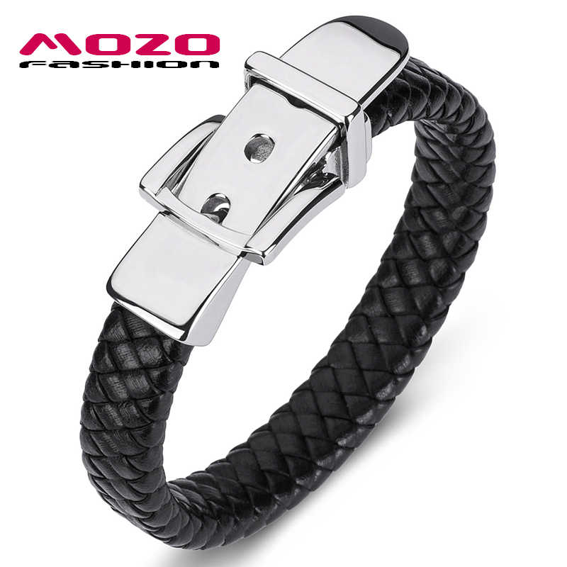 Fashion Bangle Classic Genuine Leather Belt Buckle Bracelet For Men Hand Charm Jewelry Braided Handmade Wholesale Price