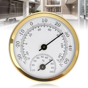 Portable Mini Humidity Temperature Meter Gauge Wall Mounted Thermometer Hygrometer Round Home Thermometer