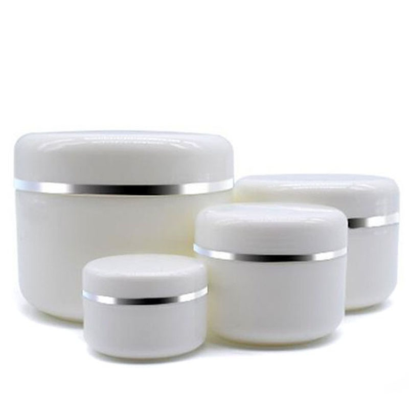 10Pcs 30g/50g/100g/250g Travel Face Cream Lotion Cosmetic Container Plastic Empty Makeup Jar Pot Refillable Bottles