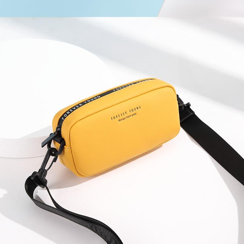 Vento Marea Small Crossbody Bag For Women 2019 Yellow Shoulder Bag Over The Shoulder Mini PU Leather Phone Bag Purses & Handbags