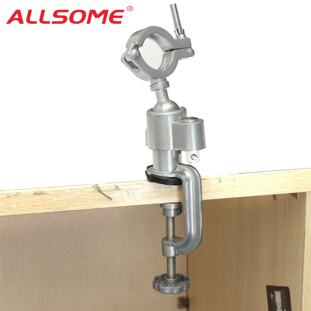 ALLSOME 360 Rotating Universal Clamp-on Grinder Bench Vises Holder Tool For Electric Drill Stand Rotary Tools HT2830