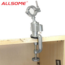 ALLSOME 360 Rotating Universal Clamp on Grinder Bench Vises Holder Tool for Electric Drill Stand Rotary Tools HT2830