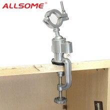 ALLSOME Универсальный вращающийся на 360 градусов точильный станок, скамья, тиски, держатель, инструмент для электродрели, подставка, вращающиеся инструменты HT2830