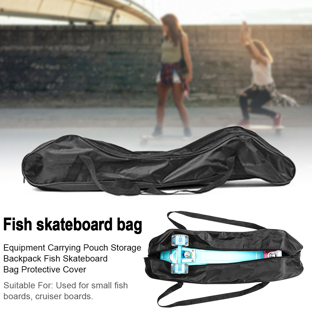 Portable Protective Cover Travel Foldable Fish Skateboard Bag Equipment Hanging Storage Backpack Carrying Pouch Wear Resistant