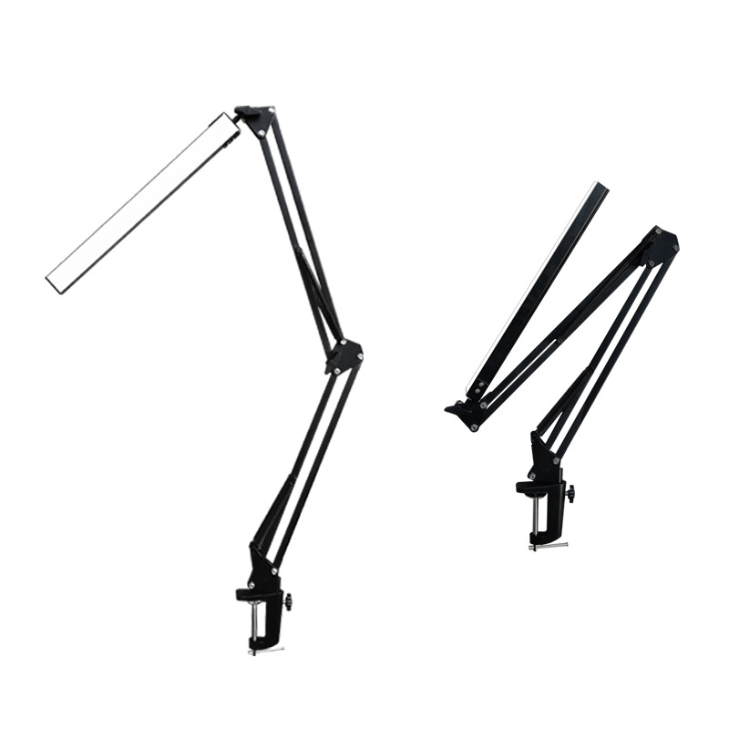 LED Folding Metal Desk Lamp Clip on Light Clamp Long Arm Dimming Table Lamp 3 Colors For Living Room Reading And Computers|Desk Lamps| - AliExpress