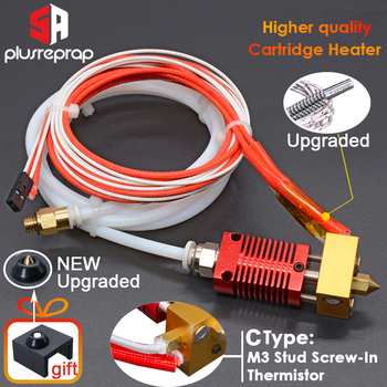 Ender-3/CR10/CR10S 1.75mm J-head Hotend kit Aluminum Heat Block with Heater Thermistor For 3D Printer  With 0.4mm Nozzle Part mellow all metal nf crazy hotend v6 copper nozzle for ender 3 cr10 prusa i3 mk3s alfawise titan bmg extruder 3d printer parts