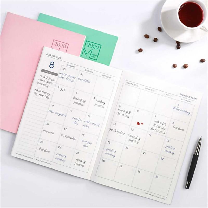 2020 2021 Calendar Month Planner Schedule Daily Weekly Planner Notebook Agenda Planner Organizer School Office Stationery Supply