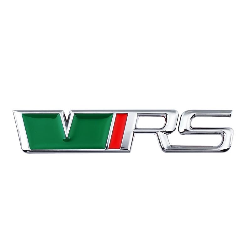 Car 3D Metal VRS Decal Sticker For Vw Skoda Rapid Yeti Octavia Fabia Logo Car Body Tail Emblems Badge Side Fender Stickers