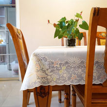 Modern minimalist pvc tablecloth, waterproof and oil-proof disposable plastic rectangular tablecloth
