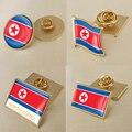 Герб Северной Кореи корейцев карта Национальный флаг Эмблема с национальным цветочным брошь значки нагрудные знаки
