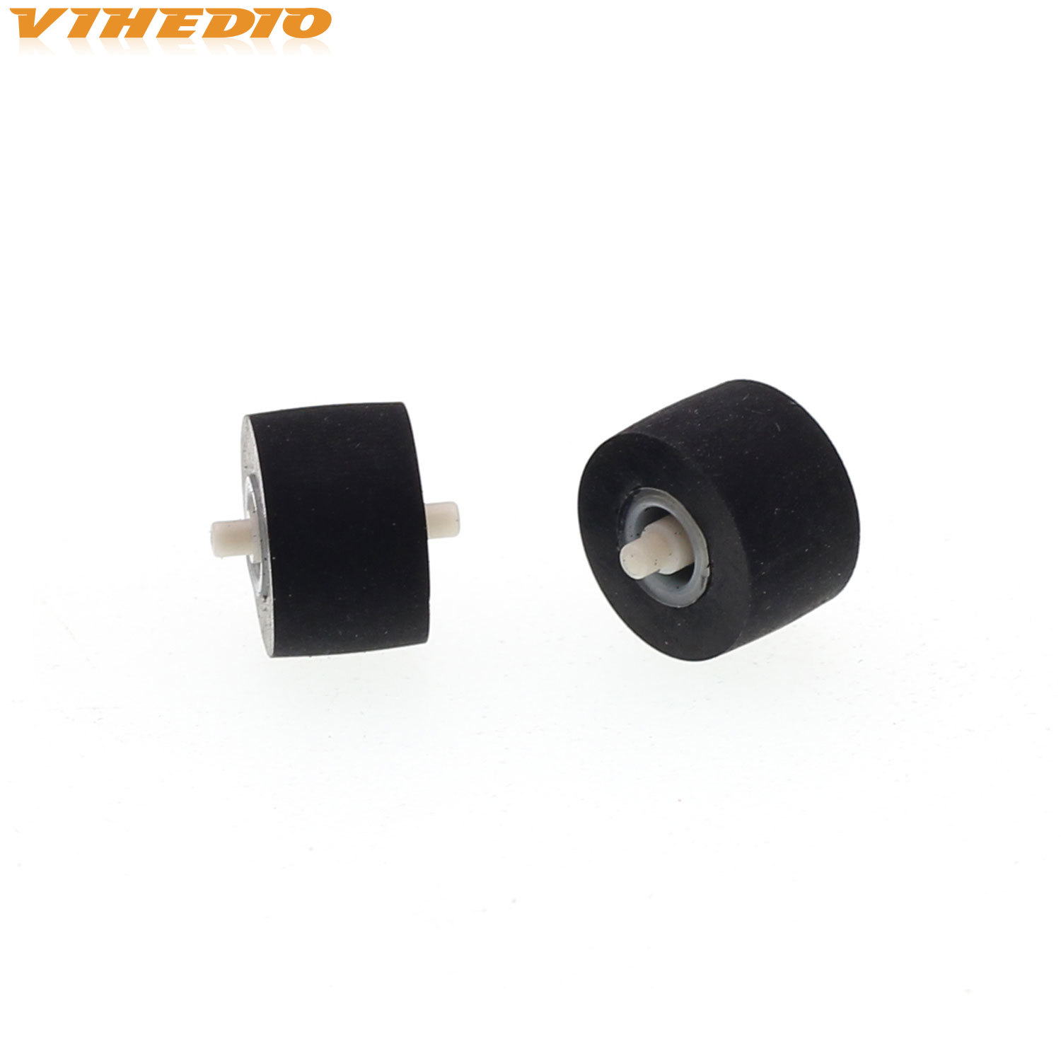 2pcs 10mmx6.5x1.5 Retractor Press Belt Pulley Deck Audio Pressure Recorder Cassette Deck Pinch Roller Tape For Technics TR 575