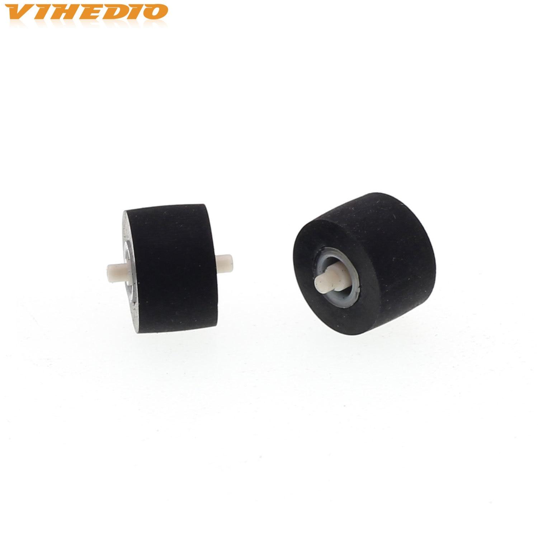 2pcs 10mmx6.5x1.5 Retractor Press Belt Pulley Deck Audio Pressure Recorder Cassette Deck Pinch Roller Tape For Technics TR 575