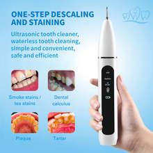 Détartreur électrique portable, anti-taches de fumée, pour la maison, ultrasonique, combat les plaques dentaires, pour des dents blanches