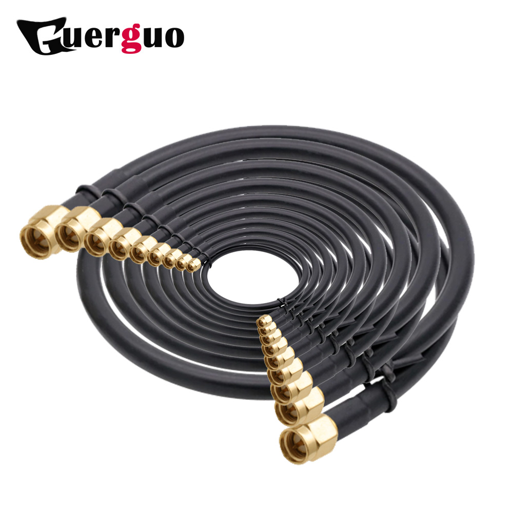 1M 2M 5M 10M 20M SMA Male to SMA Male RG58 50ohm Coaxial Cable SMA Plug WiFi Antenna Extension Cable Connector Adapter Pigtail