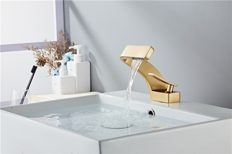 H547aab62d17a466b95c3cc71d7736f50v Tuqiu Basin Faucet Modern Black Bathroom Mixer Tap Brushed Gold/Nickel/Chrome Wash basin Faucet Hot and Cold Sink Faucet New