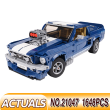 LegoEDS Forded Mustanged Compatible 10265 Creator Technic Car Model Building Kit Blocks Bricks For Kids Educational Toys Gifts