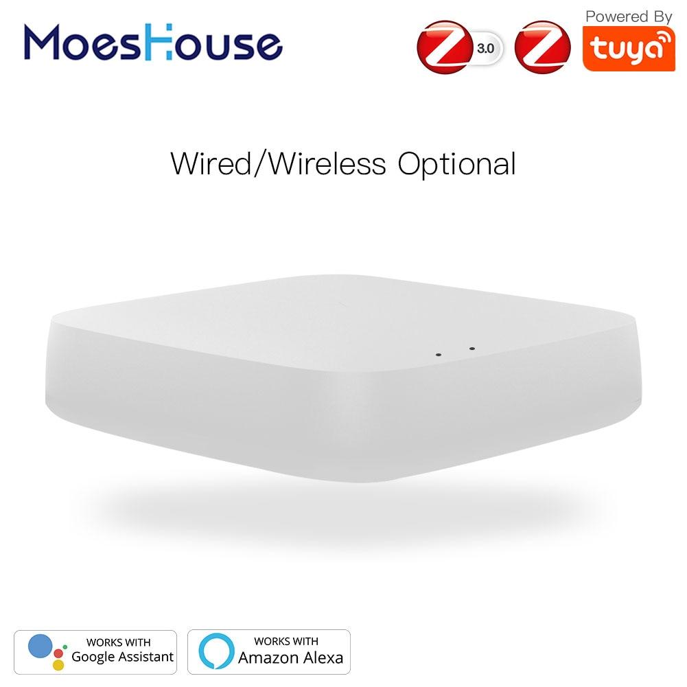 Tuya ZigBee 3.0 Smart Gateway Hub Smart Home Bridge Smart Life APP Wireless Remote Controller Works With Alexa Google Home