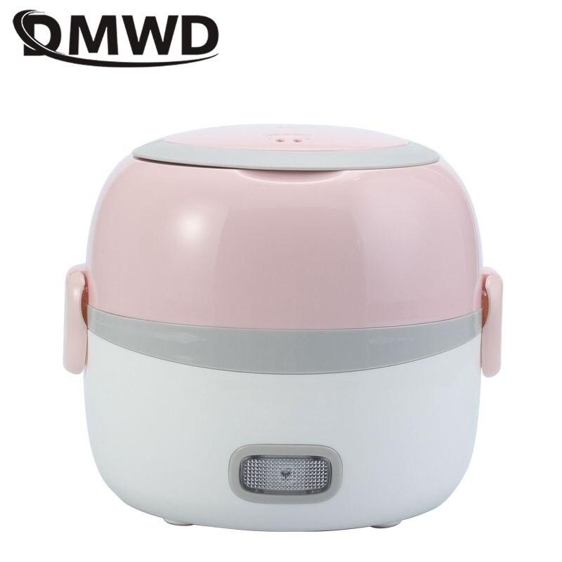 DMWD 2 Слои 1.3L рисоварка 220 В офисные Портативный Электрический ланч бокс с подогревом Еда нагреватель свежести для 1- 2 человек контейнер с под...