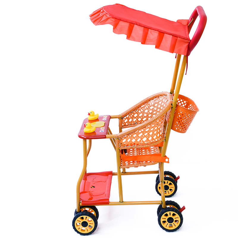 Summer Rattan Chair Trolley Bamboo Rattan Baby Portable Children's Car Rattan Breathable Summer Baby Stroller