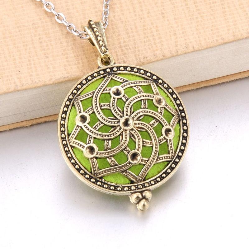 1 шт. аромадиффузор ожерелье Открытый Античный винтажный медальон кулон парфюм эфирное масло ароматерапия медальон ожерелье с подушечками - Окраска металла: N2214