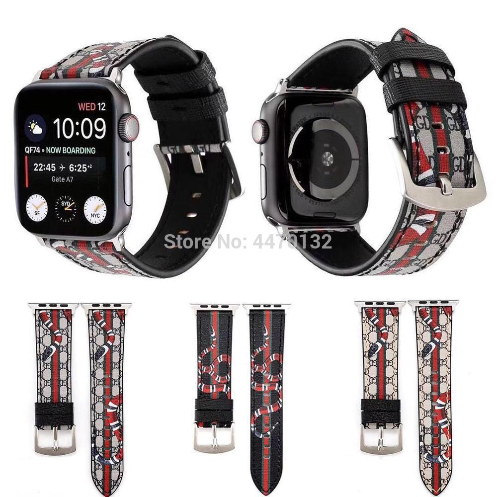 Fashion Genuine Leather Bracelet Watch Band Strap For Apple Watch 40mm/44mm/38/42MM Series 5 4/2/3 Wristands Women Men Band