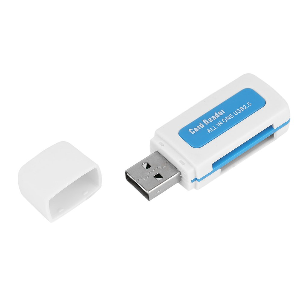 2018 New Protable USB 2.0 4 In 1 Memory Multi Card Reader For M2 For SD For SDHC DV Micro For Secure Digital Card TF Card