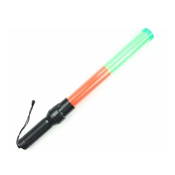 Wholesale 54cm Traffic Control Rod Fluorescent Luminous LED Fire Flash Warning Baton Red Green Flashing Light