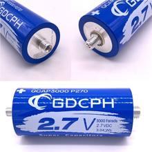 Condensador de faradio Super 2,7 V 3000F, 136x60mm, pie largo, ESR bajo, Ultracapacitor de alta frecuencia para fuente de alimentación de coche automotriz