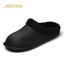 2019 inverno chinelos de pele interior para as mulheres dos homens cor dos doces tamancos piso casa chinelos mulher tamancos hommer à prova dwaterproof água sapatos meninas