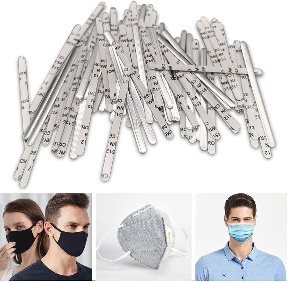 Aluminum Strips Nose Wire,Nose Bridge For Mask,90MM Metal Flat Nose Clips Nose Bridge Bracket DIY Wire For Sewing Crafts 500PCS