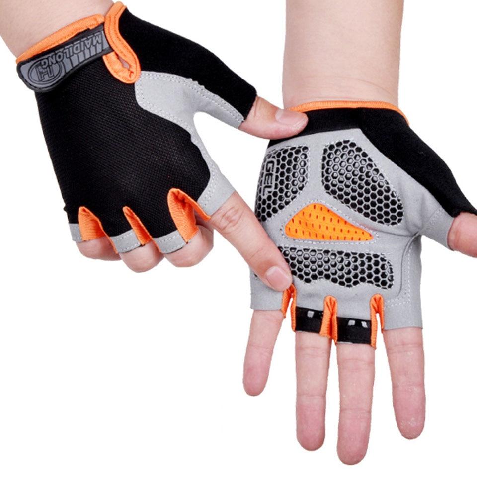 Перчатки на полпальца для мужчин и женщин, Нескользящие дышащие спортивные митенки, защита от пота, амортизирующие, для велоспорта