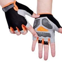 Gants de cyclisme antidérapants et Anti-transpiration pour hommes et femmes, demi-doigt, respirant, antichoc, pour le sport, le vélo