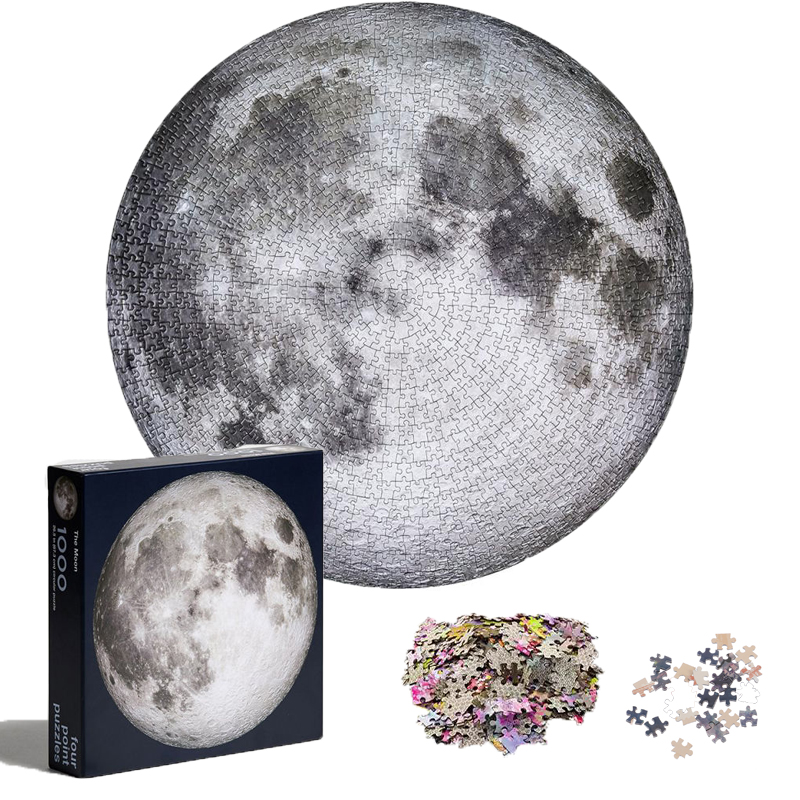 1000 Pieces Moon Planet High Difficult Round Planet Puzzle Children Educational Jigsaw Puzzles Toy For Adults Kids Dropshipping