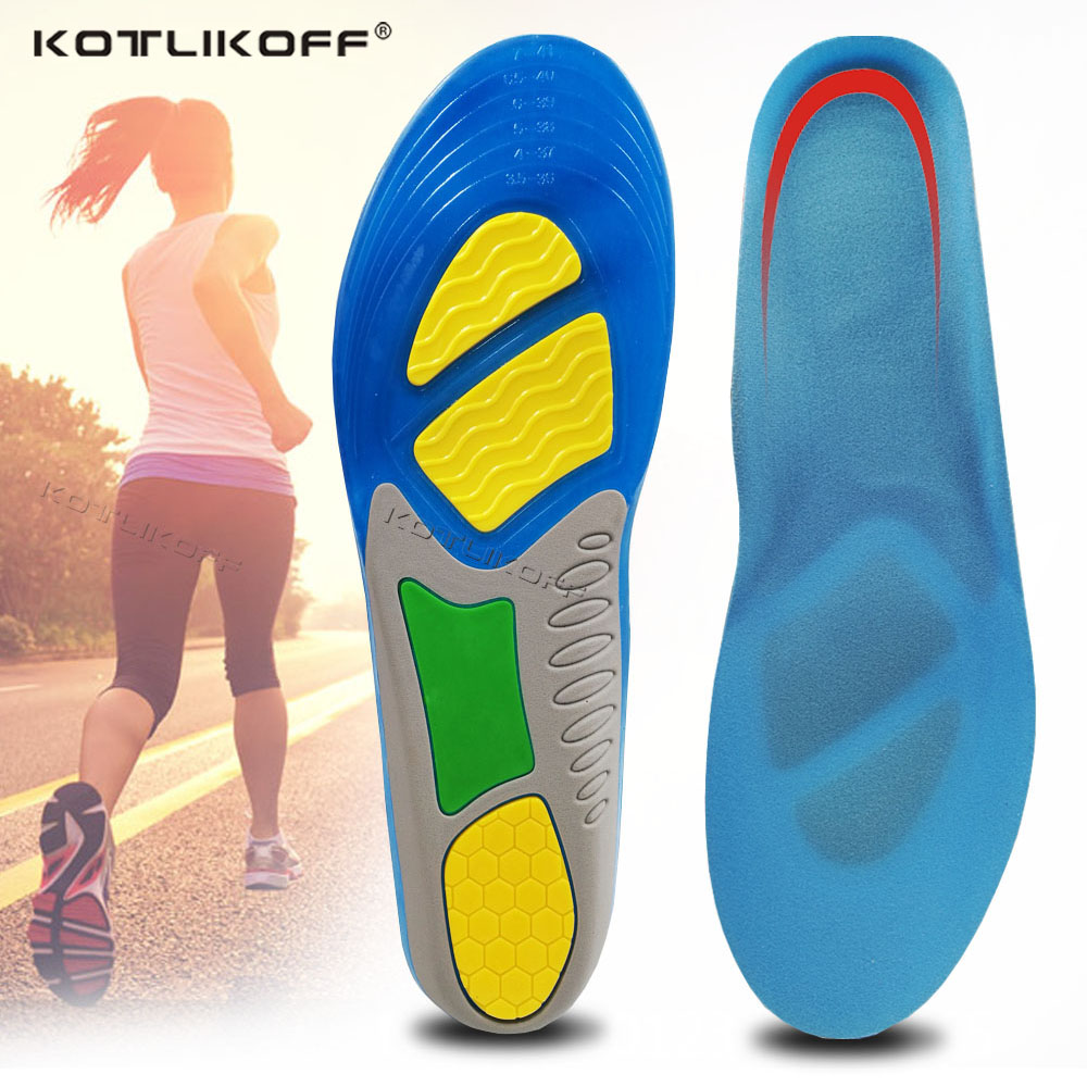 KOTLIKOFF TPE Silicone Insoles Foot Care For Plantar Fasciitis Orthopedic Massaging Shoe Insert Shock Absorption Shoe Pad Unisex