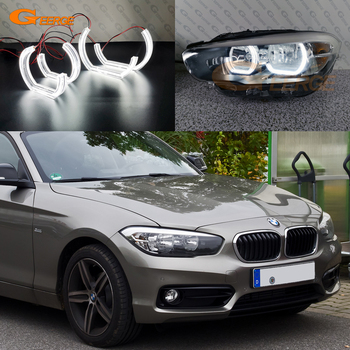 For BMW 1 SERIES F20 F21 2011-2017 HALOGEN HEADLIGHT Excellent Ultra bright DTM M4 Style led Angel Eyes halo rings image