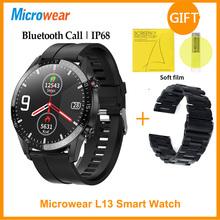 ES oryginalny Microwear L13 inteligentny zegarek mężczyźni Bluetooth Call miernik tętna ekg IP68 wodoodporny 1 3 calowy zegarek do Fitness VS L16 SmartWatch tanie tanio CN (pochodzenie) Android OS Na nadgarstku Wszystko kompatybilny 128 MB Passometer Fitness tracker Uśpienia tracker