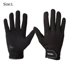 Riding-Gloves Magic-Sticker Touch-Screen Horse Driving Wear-Resistant Dressage Cycling