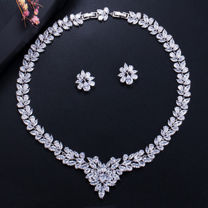 Image 2 - CWWZircons Sparkling Yellow Cubic Zirconia Wedding Necklace Earring Set for Women Luxury Bridal Jewelry Accessories T262